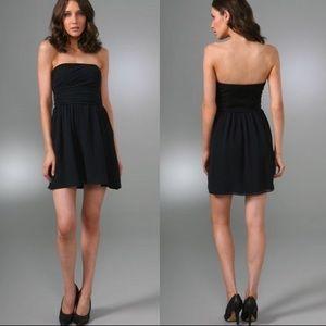 Theory Frederica Strapless Mini Dress